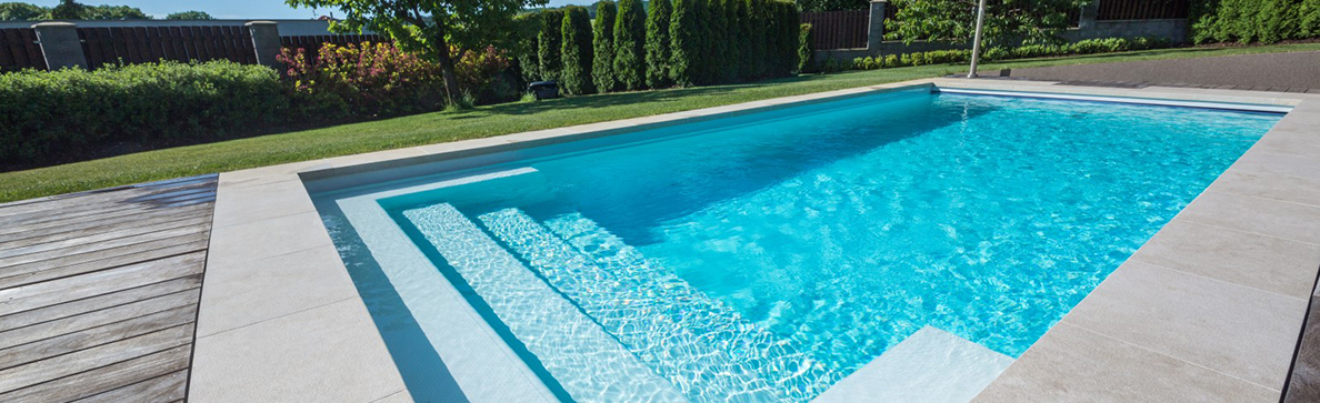 Image of fibre glass swimming pool.